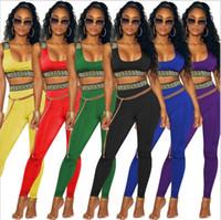 indiano mulheres roupa venda por atacado-Macacões 2018 Roupas Africanas 2 Peça Set Mulheres Africaine Imprimir Dashiki Vestido Roupas Africanas bazin indiano riche femme