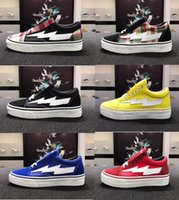 Wholesale Old Colors - 20 Colors Top Revenge X Storm Old Skool Designer Cavnas Sneakers Womens Men Low Cut Skateboard Red Blue White Black Casual Running Shoes
