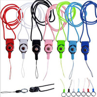 Wholesale flash drive charm resale online - Rotatable detachable Neck Strap Detachable Ring Lanyard hanging Charming Charms For Cell Phone MP3 MP4 Flash Drives ID Cards holder