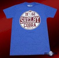 cobra t-shirt achat en gros de-Nouveau Ford Mustang Shelby Cobra 1962 Hommes Vintage Classique T-Shirt Tops Été Cool Cool T-Shirt Mâle Batterie Drôle Coton Tops