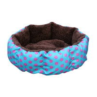 коричневая печать постельное белье оптовых-Leopard Print Pet Cat and Dog Bed Pink Blue Yellowish brown, Deep pink SIZE S M L XL Colorful Puppy House Hot