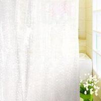 cortinas preços venda por atacado-Modern 1.8 * 1.8 m Moldproof Impermeável 3D Espessamento Banheiro Banho Cortina de Chuveiro Eco Branco Melhor Preço Sólido