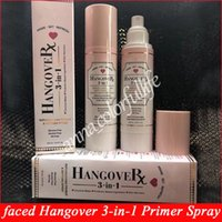 Wholesale pre skin - NEW Faced Hangover RX 3-In-1 Replenishing Primer & Setting Spray 4oz Coconut Pre-makeup lotion 120ML
