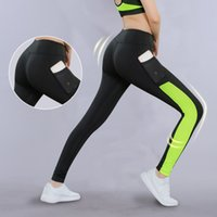 Wholesale yoga pants xs - Women Yoga Pant With Pocket Reflector Quick Dry Sports Pants For Women Breathable Fitness Tights Splicing Sport Leggings