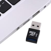 mikro sdxc okuyucu toptan satış-Windows Mac için Süper Hız MINI 5 Gbps USB 3.0 Mikro SD / SDXC TF Kart Okuyucu Adaptörü