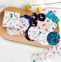 Wholesale account box resale online - New Boxed sticker Flamingo Dream color hand account Album Decoration paste Sealing paste DIY sticker T4H0329