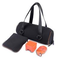 caja de altavoces bluetooth al por mayor-Jbl Charge3 Bluetooth altavoz bolsa de lona de almacenamiento viaje negro hombre mujer portátil bolsa de protección suave bolsa 18jf bb