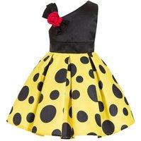 avrupa elbisesi kıyafetleri toptan satış-Yeni Avrupa Moda Kız Parti Elbise Çocuklar Ilmek Nokta Balo Tutu Prenses Elbise Çocuk Elbiseleri W211
