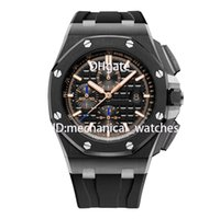 Wholesale reloj water resistant online - AAA Men Watch Luxury Brand Quartz Rubber Watches mm High Quality VK Movement Sports Watches Men Business Wristwatch reloj de pulsera