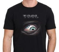 outils à bascule achat en gros de-OUTIL Lateralus Eye Logo Rock Band Tee shirt Homme noir Taille S-XXL