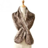 Wholesale rabbit hair shawl - Nobiliary Faux fur scarf ladies accessories shawl winter warm soft cross scarf imitation rabbit hair cappa tippet