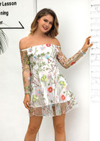 Wholesale mini lace dress transparent for sale - Group buy Womens Strapless Sexy Floral Embroidery Transparent Lace Dresses Female Summer Backless Casual Evening Party Dresses