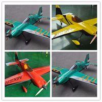 "Wholesale Wood Airplane Models - RC Airplane Model MXS-R 64"" V2 20cc Gas 6 Channels 3D ARF RC Plane 3 Color"