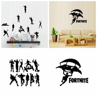 Wholesale game room art - Fortnite Wall Sticker Art PVC Baby Room bathing room Decals Cartoon Game Wall Luggage car Stickers Wall Decor GGA932