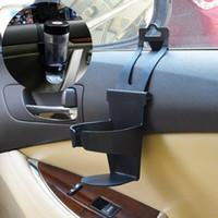 Wholesale Car Cup Holder Door - Car Drink Holder Universal Black door side back cup holder Vehicle Car Truck Door Mount Drink Bottle Cup Holder Stand Tools 60PCS GGA78