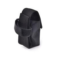 naylon taşıma çantası toptan satış-1 ADET Taşınabilir Naylon Depolama Kılıfı Çanta 18650 Bisiklet pil Için Taşıma çantası