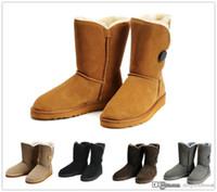 cargadores femeninos de la nieve del invierno al por mayor-Moda clásica de alta calidad 2017 nueva moda clásica australiana botas altas de invierno botas de cuero botas femeninas bota de nieve