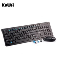 Wholesale gaming receiver - Kuwfi Ultra Slim 2.4G Wireless Keyboard+Mouse Nano Receiver Portable Gaming Keyboard Mouse Combo for Desktop PC