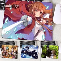 muchachas del teclado al por mayor-Mairuige So Cute Anime Girls Asuna Mouse Pad SAO Kirito Mini Pc Table Mats Pad To Keyboard Desktop High Quality para Anime Lover