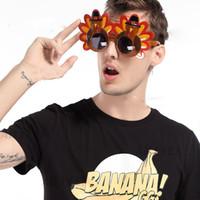 ingrosso occhiali da sole-Occhiali styling tacchino Ringraziamento vestire oggetti di scena Occhiali divertenti per feste Mr. Turkey Festive Party Supplies V