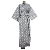 Wholesale Japanese Kimono Shirt - 2017 Cool Traditional Japanese Male Kimono Men's Robe Yukata 100% Cotton Men's Bath Robe Kimono Sleepwear with Belt 62502