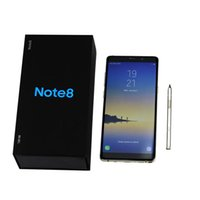 Wholesale Unlocked Note8 inch Note Goophone Quad Core Android G Ram GB GB Rom With Touch ID show G LTE Cellphone dhl