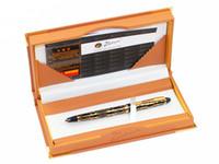 ручка золотая нить оптовых-Pimio 901 Paris Exotica  Gold Iridium Fountain Pen with 0.5mm Nib Metal Ink Pens Writing Office Gift Free Shipping