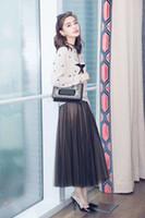 ab4ea050f23 Runway Jupe 2017 Femmes Haute Qualité Auutmn Hiver Designer Taille Haute  Jupe Élastique Midi Femmes De Mode