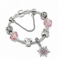 Wholesale fresh bracelets - SPINNER Christmas Love DIY Charm Bracelet Small Fresh Romantic Couple Pandora Bracelet for Women Jewelry Christmas Gift