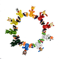 Wholesale children reading pen - Cartoon Animal Push Cart Toy Wooden Baby Walkers Children Puzzle Toys Gift Many Styles 5sw C R