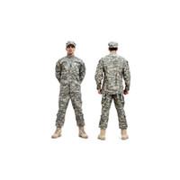 bdu armeeuniform großhandel-Tactical Army Cargo Pants und Hemd Camouflage Waterproof BDU Uniform Combat US Herren Kleidung Sets Whosale