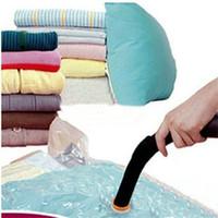 raumtasche vakuumlagerung groihandel-50 * 60 CM Kunststoff Platzsparende Dichtung Vakuumbeutel Komprimierte Kleidung Quilt aufbewahrungstasche Transparent Klar Organizer Komprimieren