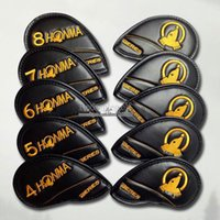 Wholesale new headcover golf online - New Unisex cover high quality Golf headcover HONMA PU Golf irons headcover S A Unisex black Golf Clubs headcov