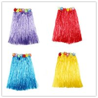 Wholesale adult party props for sale - Group buy Hawaiian wreath hula skirt adult suit female kindergarten performance material performance costume party props skirt length CM sexy