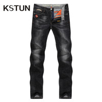 Wholesale mens casual business jeans - Men 'S Jeans 2018 Mens Black Jeans Slim Fit Stretch Denim Casual Quality Pants Business Trousers For Man Boys Jean Homme Size 38