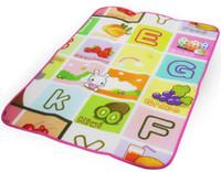 çocuklar açık oyun paspaslar toptan satış-Bebek Mat Oyun Tek desen 79.5 * 60.7 * 0.3 cm Su Geçirmez ve Açık Çocuk Güvenliği Paspaslar Oyun Halı