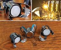 ingrosso espansione della spina d'acciaio-Tappo champagne in acciaio inox con tappo in silicone riutilizzabile sigillante espansibile durevole champagne saver cap spedizione gratuita FEDEX