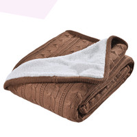 Wholesale knit queen blanket - KISS QUEEN New Arrival plain dyed brown manta Cotton cashmere Blanket Brand High Quality throw Blanket bedspreads