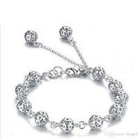 Wholesale popular box sets - Pierced exquisite ball bracelet silver jewelry wholesale a variety of Taobao explosion models mixed batch of Korean popular jewelry
