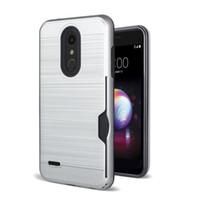 caisse de puissance pour samsung achat en gros de-Pour LG Stylo 4 Samsung Galaxy J7 2018 J3 2018 Brosse Carte Slot Cas Pour LG Aristo 2 X Power 2 OPP Sac