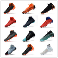 Wholesale soccer boot mens - Mens CR7 Melhor Elite Ronaldo KJ VI 360 FG Soccer Shoes Football Boot Mercurial Superfly Cristiano Ronaldo FG Men Socce Shoe Cleats