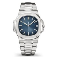 Wholesale wristwatches online - Top Nautilus Watch Men Automatic Luxury Watches Silver Strap Blue Stainless Mens Mechanical Orologio di Lusso Wristwatch Date Chrono