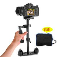 mini s video al por mayor-S40-S 40cm estabilizador de mano profesional Steadicam para videocámara cámara digital Video Canon Nikon Sony DSLR Mini Steadycam