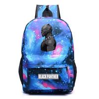 mochilas de galaxias de mujer al por mayor-2018 Nueva Moda Galaxy Pantera Negra Marvel 3D Impreso Boy Girl School bag Mujeres Bolsa de Viaje Adolescentes Mochilas Hombres Mochilas
