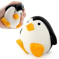 Wholesale Cute Penguin Cartoons - Penguin Squishy Decompression Simulation Relax Pretty Decor Toys Slow Squishy Cute Penguins Scented Fun Cartoon Animal Toys
