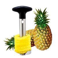 sebze meyveleri soyulması toptan satış-Paslanmaz Çelik Ananas Soyucu Kesici Dilimleme Tart Kabuğu Çekirdek Araçları Meyve Sebze Bıçak Gadget Mutfak Aksesuarları Spiralizer