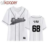 ingrosso camicia eso kpop-ALLKPOPER Nuovo EXO Plane3 kpop exo chanyeol sehun xiumin baekhyun t-shirt donna t-shirt donna t shirt harajuku