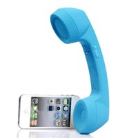 Wholesale apple handset for sale - New Wireless Bluetooth Mic Retro Telephone Cell Phone Handset Receiver Mobile Phone Headphone Bluetooth Handset