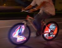iyon bisikleti toptan satış-Şarj edilebilir Li-ion Pil LED Programlama Bisiklet Hareket Işık Konuştu Arabanızı daha güzel bir serin yapmak