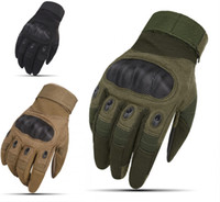 Wholesale mens winter glove - Mens Military Tactical Gloves Hard Knuckle Gloves For Shooting Airsoft Motorcycle Fighting Outdoor Gloves Support FBA Drop Shipping G698F